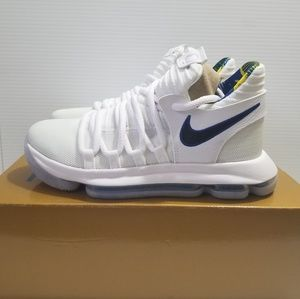 e8e82c230edf Nike · Nike Zoom KD 10 X LMTD NBA (GS) White Blue Shoes